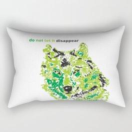 Wolf - do not let it disappear Rectangular Pillow