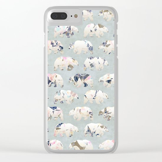 Psychedelic Bears Clear iPhone Case