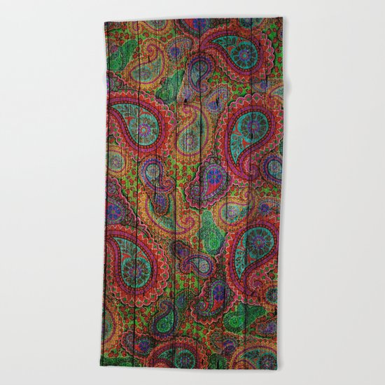Kashmir on Wood 04 Beach Towel