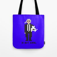 karl lagerfeld Tote Bags featuring 8 Bit Karl by 8 Bit Icons