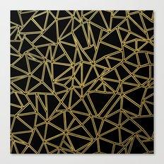 Abstract Blocks Gold Canvas Print