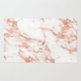 Marble - Metallic Rose Gold Marble Pattern Rug