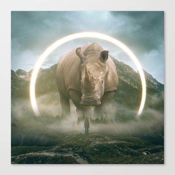 aegis   rhino Leinwanddruck
