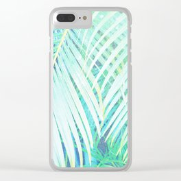 palm fronds Clear iPhone Case