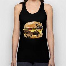 Pugs Burger Unisex Tank Top