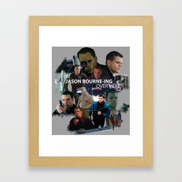 I'm Jason Bourn-ing Over Here! Framed Art Print