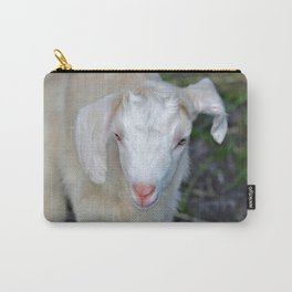White Baby Goat Carry-All Pouch