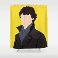 sherlock Shower Curtains featuring Sherlock by Jessica Slater Design & Illustration