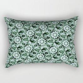 Aqua Floral Fashion Pattern  Rectangular Pillow
