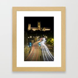 Lincoln Cathedral Trails Framed Art Print