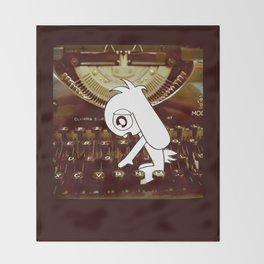 Typewriter Bunny # Bob The Lop Throw Blanket