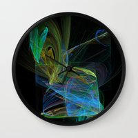 drunk Wall Clocks featuring Drunk by Christy Leigh