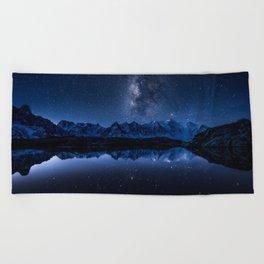 Night mountains Beach Towel