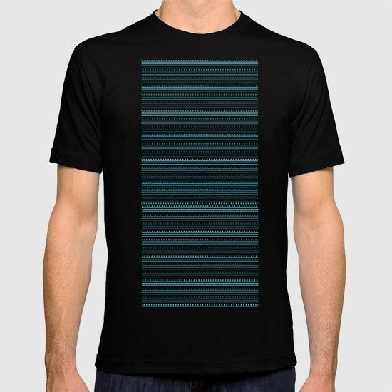 Aqua Lines and Dots T-shirt