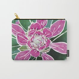 Batik Rhododendron Carry-All Pouch
