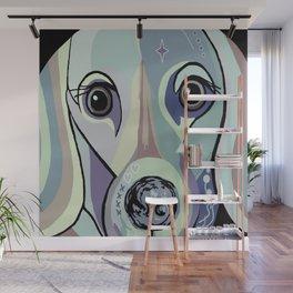 Dachshund in Denim Colors Wall Mural