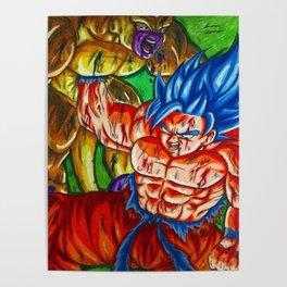 Ssb kaioken goku vs Golden frieza Poster