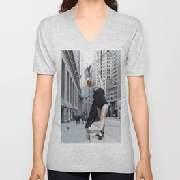 Arching to Wall Street Unisex V-Neck