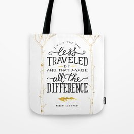 The Road Not Taken By Robert Frost Tote Bag