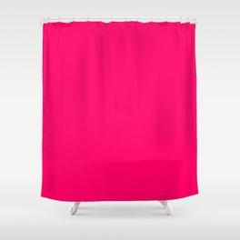 Bright Fluorescent Pink Neon Shower Curtain