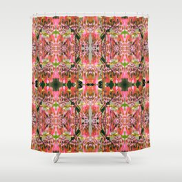 Pink Floral Pattern Shower Curtain