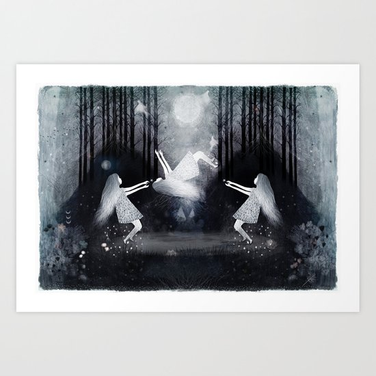 In Between Remembering And Forgetting Art Print