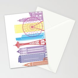 Seattle V2 skyline pop Stationery Cards