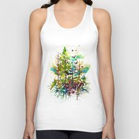 jungle Tank Tops featuring Jungle by Sah Matsui