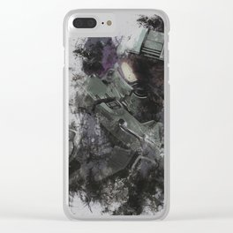 master chief Clear iPhone Case