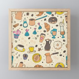 Spicy coffee Framed Mini Art Print