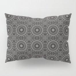 Ebony Lace Mandala Pattern Pillow Sham