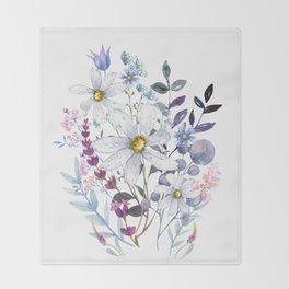 Wildflowers V Throw Blanket