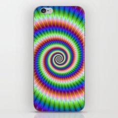 Green Blue Red and Yellow Spiral iPhone & iPod Skin