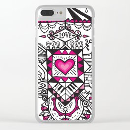 LOVE grows calliope Clear iPhone Case