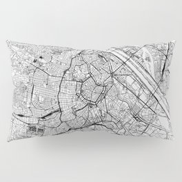 Vienna White Map Pillow Sham