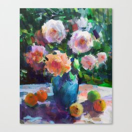 Roses and Fruits Canvas Print