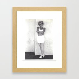 Michél - arms crossed (black and white photography, fashion model) Framed Art Print