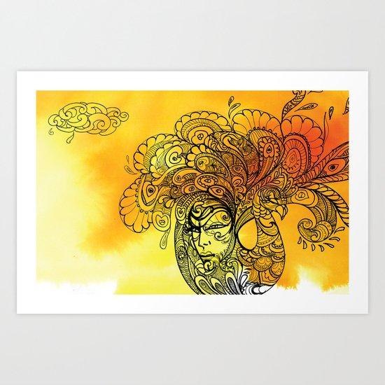 PEACOCKS CAN FLY Art Print