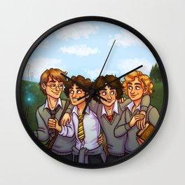 Les Amis at Hogwarts Wall Clock