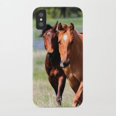 Horses & Bluebonnets II iPhone X Slim Case