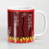 mars Mugs featuring Mars by Patti Toth McCormick