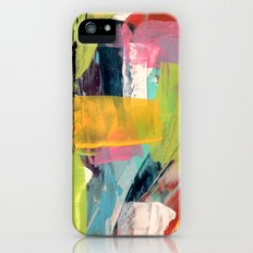 Hopeful[2] - a bright mixed media abstract piece Slim Case iPhone SE