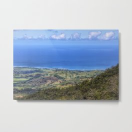 View from Le Pouce Mauritius Metal Print