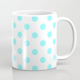 Polka Dots (Aqua & White Pattern) Coffee Mug