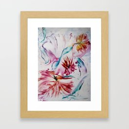 Asters Framed Art Print