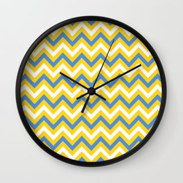 Tricolor Chevron 2 - more colors Wall Clock