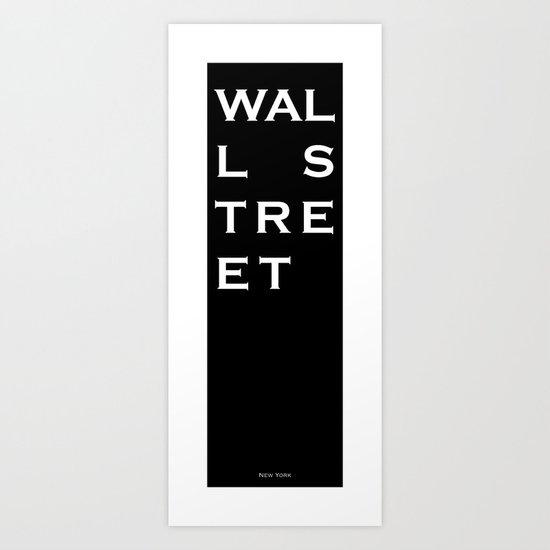 Wall Street - New York Art Print