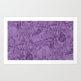 Witches Cupboard Purple Art Print