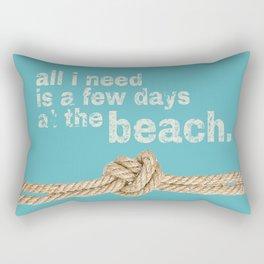 Beach Series Aqua - Beach Saying on turquoise background on #Society6 Rectangular Pillow