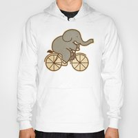 cycle Hoodies featuring Elephant Cycle by Terry Fan